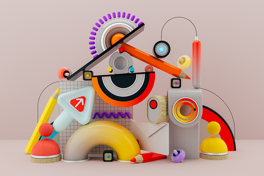 A colorful abstract illustration showing all the processes that go into onboarding.